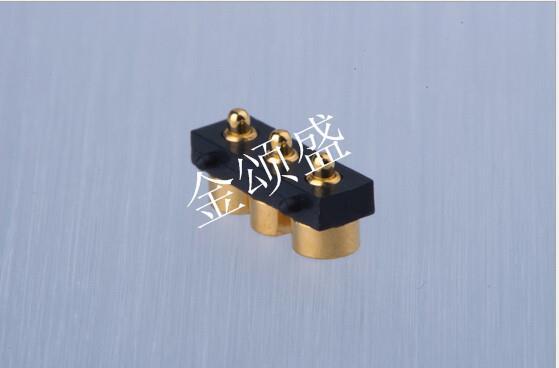 镀金DC充电接口插针 镀金电流针 PCB连接器